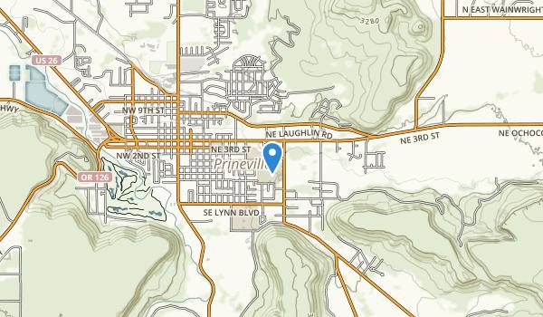 trail locations for Ochoco Wayside State Park