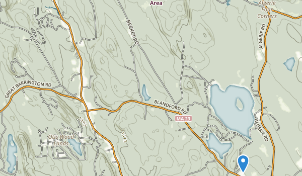 Otis State Forest Map