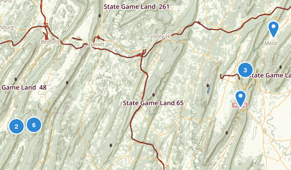 Buchanan State Forest Map