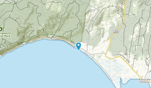 Parque Provincial Cabo Chognecto Map