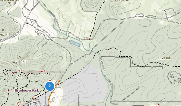 trail locations for Eisenhower Park