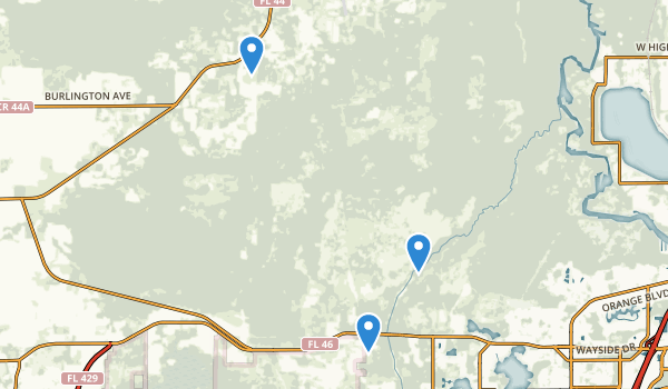 trail locations for Seminole State Forest