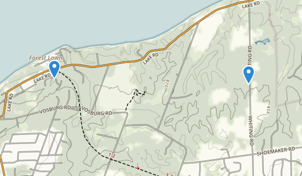 Whiting Road Nature Preserve Map