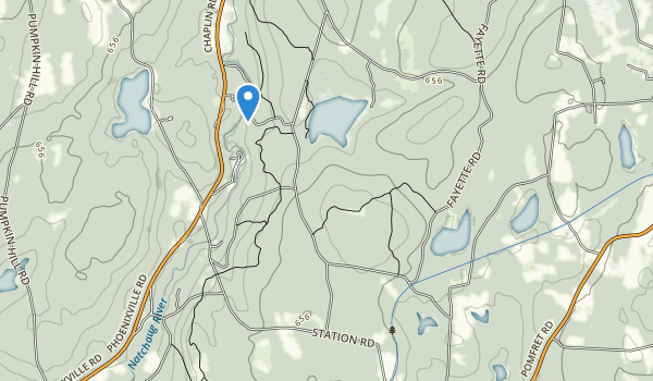 trail locations for Natchaug State Forest