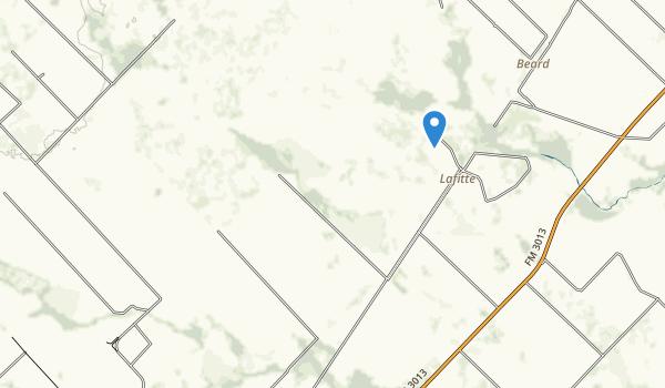 trail locations for Attwater Prairie Chicken National Wildlife Refuge