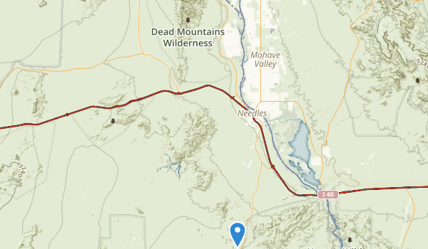 trail locations for Dead Mountains Wildrness Area