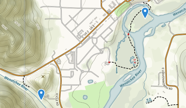 trail locations for Waterfront Park