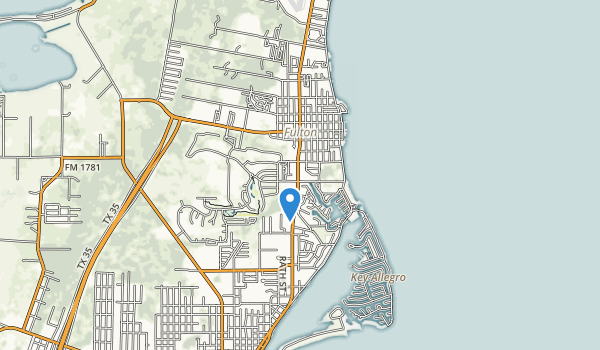 trail locations for Rockport Beach Park