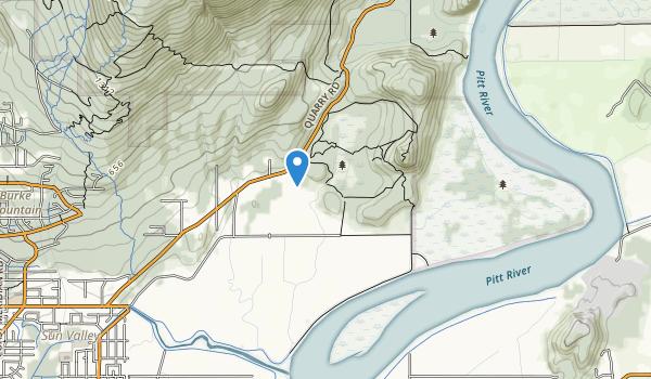 trail locations for Minnekhada Regional Park