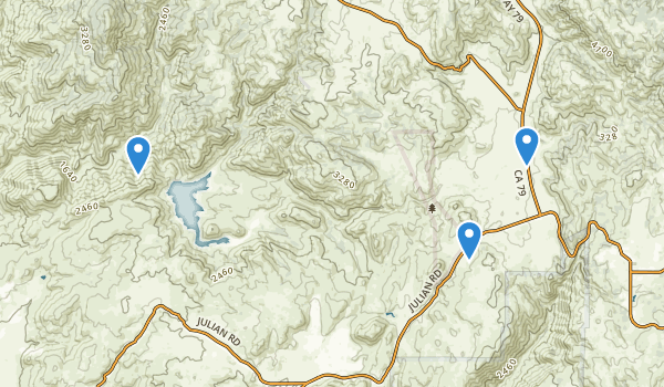 trail locations for Santa Ysabel Reservation