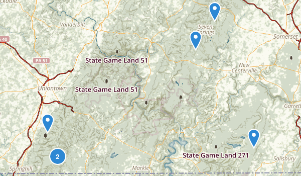 Forbes State Forest Map
