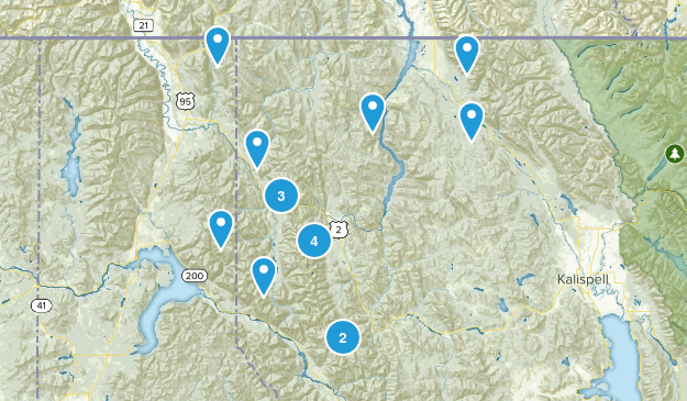 Kootenai National Forest Map