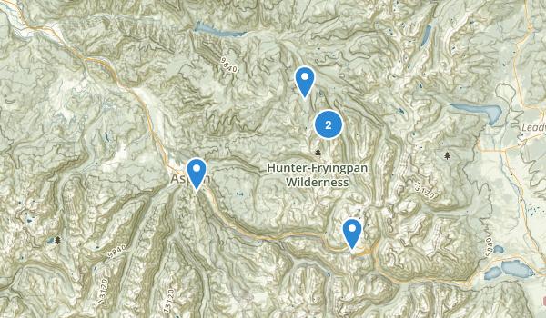 Hunter Fryingpan Wilderness Map
