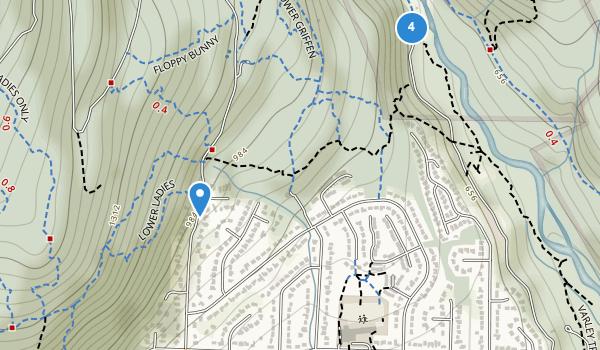 trail locations for Lynn Headwaters Regional Park