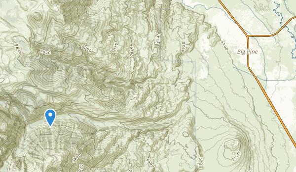 Big Pine Indian Reservation Map