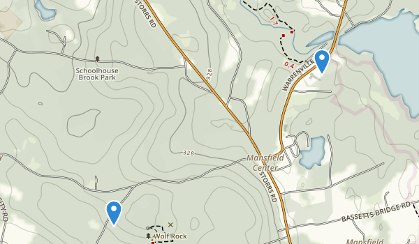 trail locations for Schoolhouse Brook Park