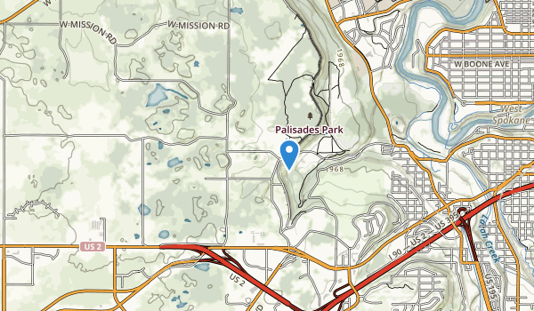 trail locations for Palisades Park
