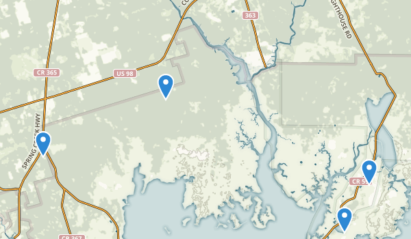 St Marks National Wildlife Refuge Map