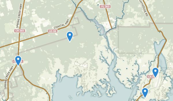 St Marks National Wildlife Refuge Map
