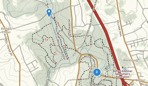 trail locations for Jacobsburg State Park