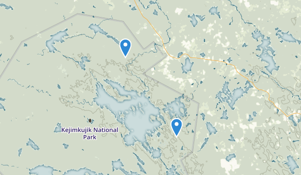 trail locations for Kejimkujik National Park and National Historic Site