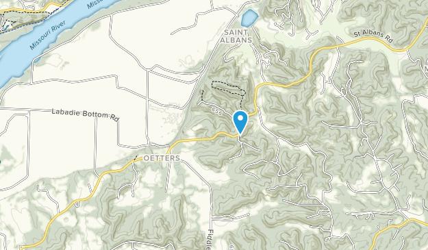 Área Natural de Engelmann Woods Map