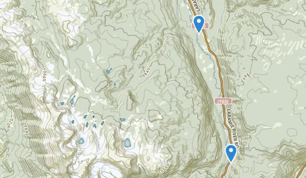 Rawah Wilderness Map