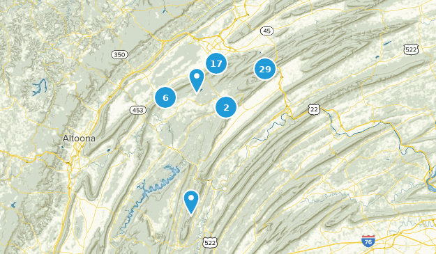 Rothrock State Forest Map