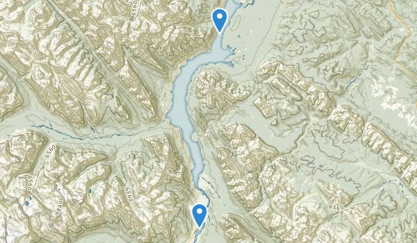 trail locations for Kootenay Plains