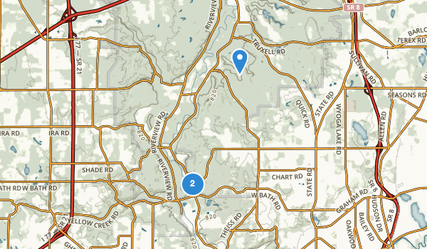 trail locations for Hampton Hills Metro Park