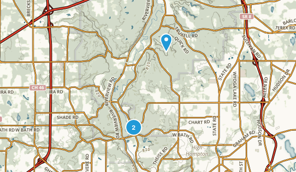Hampton Hills Metro Park Map