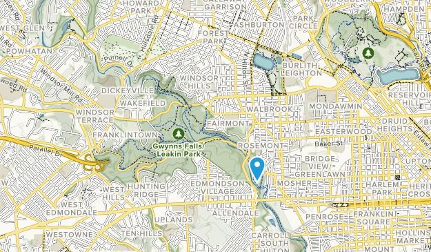 Gwynns Falls leakin Park Map