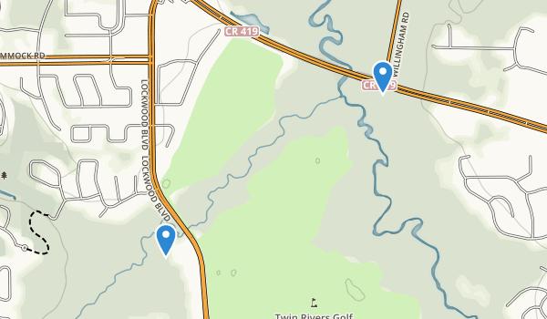 trail locations for Econ Corridor Project