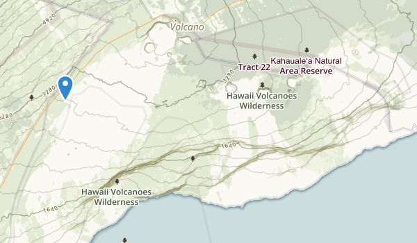 trail locations for Hawaii National Park
