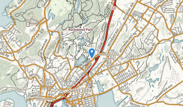 trail locations for Rockwood Park