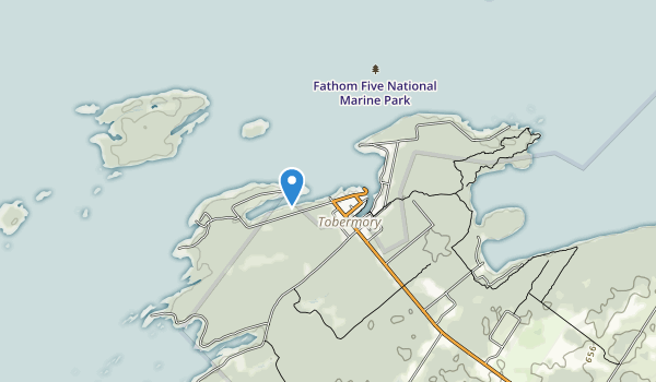trail locations for Fathom Five National Marine Park