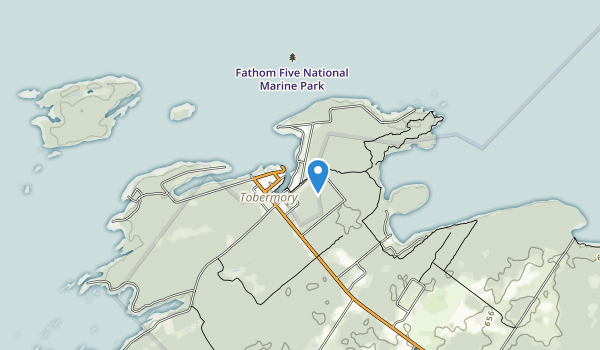 Fathom Five National Marine Park Map