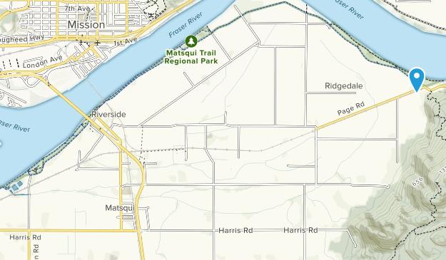 Matsqui Triail Regional Park Map
