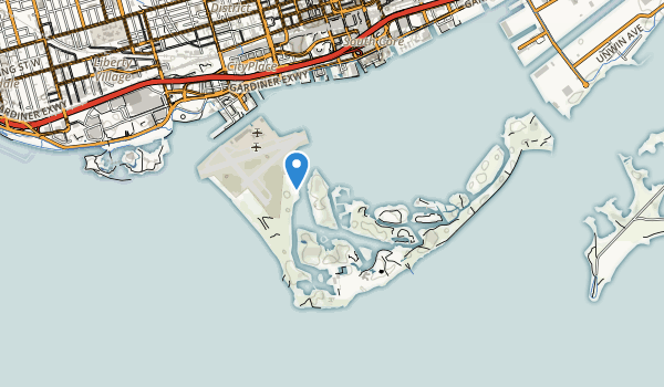 trail locations for Toronto Island Park