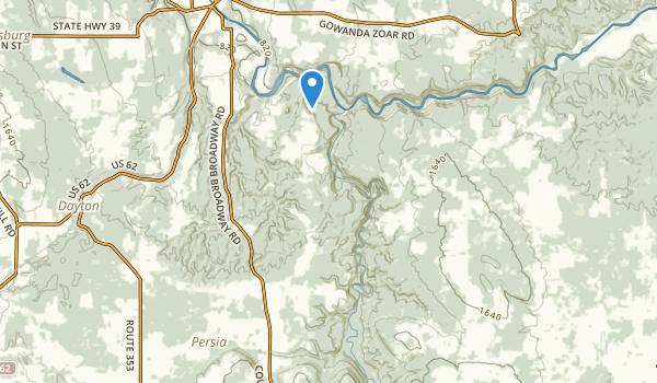 trail locations for Zoar Valley Mua