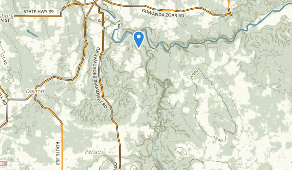 trail locations for Zoar Valley Mua