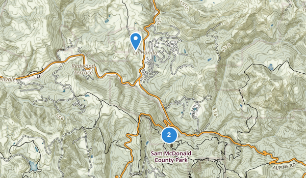 Sam Mcdonald County Park Map