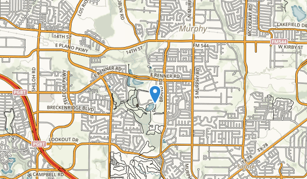 trail locations for Breckenridge Park