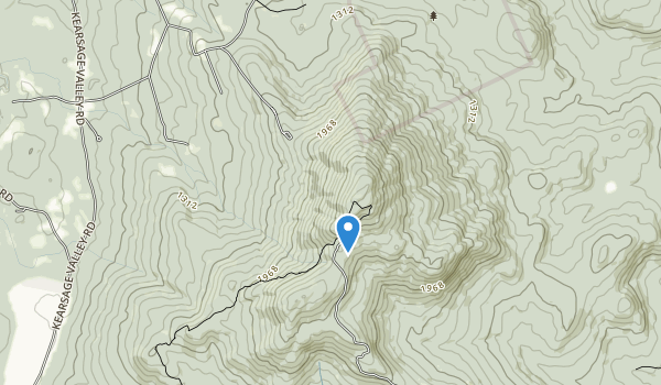 trail locations for Mt Kearsarge State Forest Park