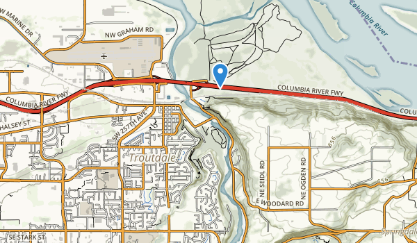 trail locations for Sandy River Delta Park