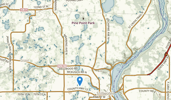 trail locations for Pine Point Park
