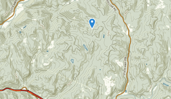 trail locations for Cherry Ridge Wild Forest