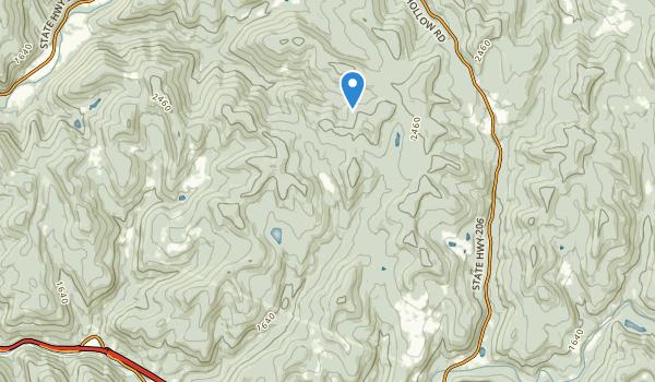 Cherry Ridge Wild Forest Map