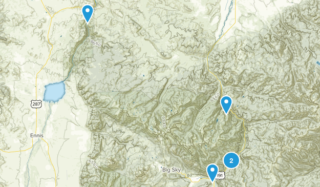 Lee Metcalf Wilderness Map