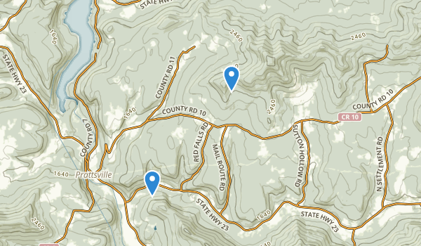 trail locations for Huntersfield State Forest